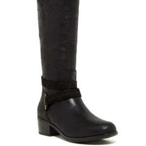 Ugg Darcie Distressed Leather Black Equestrian Rid